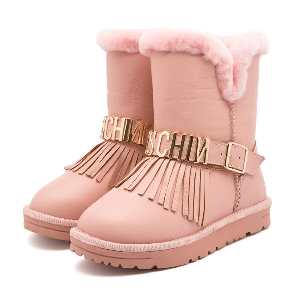 YongBe Frauen Schnee Stiefel Mitte Stiefel Stiefel Wolle Warm Plus SAMT Verdicken Slip Flache Ferse Casual Für Den Winter