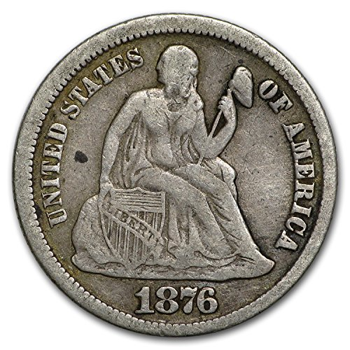 1876 CC Liberty Seated Dime VF Dime Very Fine