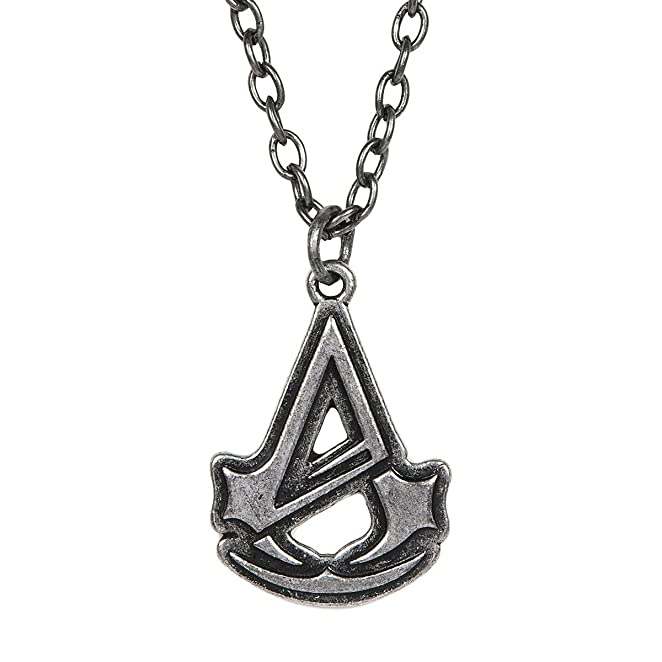 Deluxe Adult Costumes - Assassin's Creed: Unity Logo Silver-tone Pendant Necklace