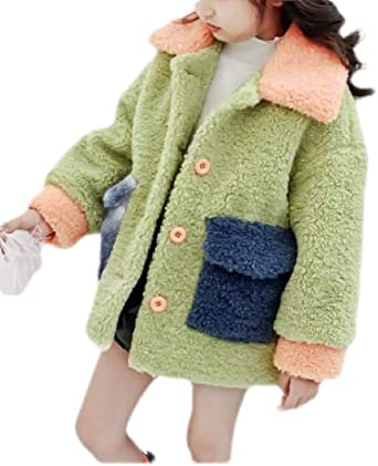 Wofupowga Girl Comfortably Sweater Coat Thick Knit Cardigans