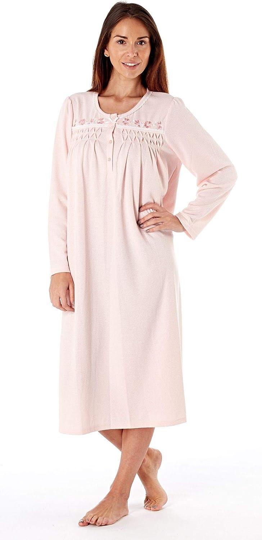 Lady Selena Womens Nightdress Fiona 110Cm Short Sleeve Full Zip