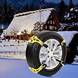 Nacome New 8PCS/16PCS Car Antiskid Chain,Winter Truck Car Snow Chain Tire Anti-skid Belt (2PCS)