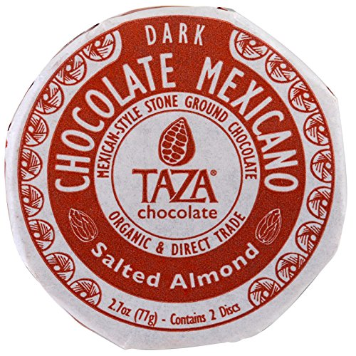 Taza Chocolate | Mexicano Disc | Salted Almond | 40% Dark Chocolate | Certified Organic | Non-GMO