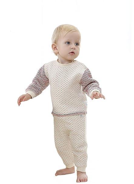 Bebé ropa interior pijamas bebé de algodón de color dos conjuntos de primavera y otoño espesamiento