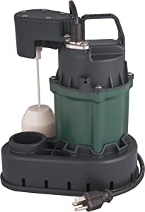H2O PRO 1/3 HP Cast Iron Submersible Sump Pump - Engineered by Zoeller