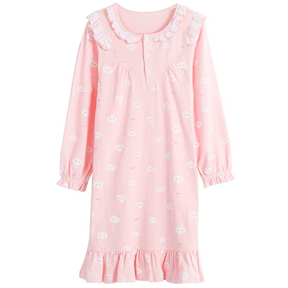 Amazon.com: Allmeingeld Teen Girls\' Granny Nightgowns Lace Sleep ...
