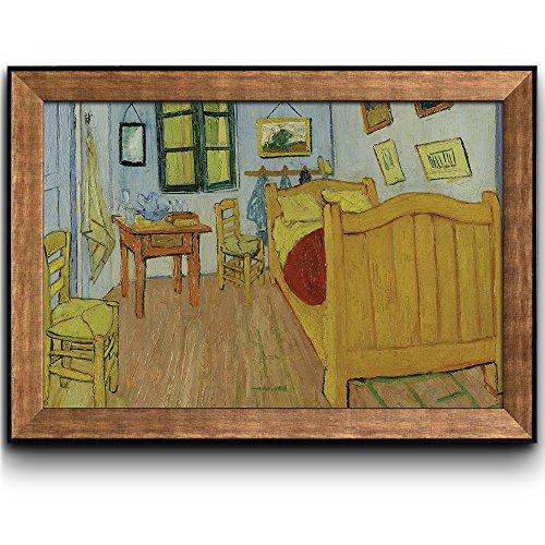 The Bedroom by Vincent Van Gogh Oil Painting Impressionist Artist Framed Art