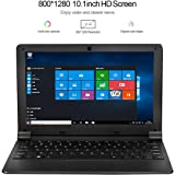 HSW 10.1-inch Windows 10 Laptop Network with Intel Atom Z8350 1.44GHz Quad Core Processor,2GB RAM, 32GB Storage, Support WiFi,HDMI,Camera and 128GB TF Card Extension Computer (Black)