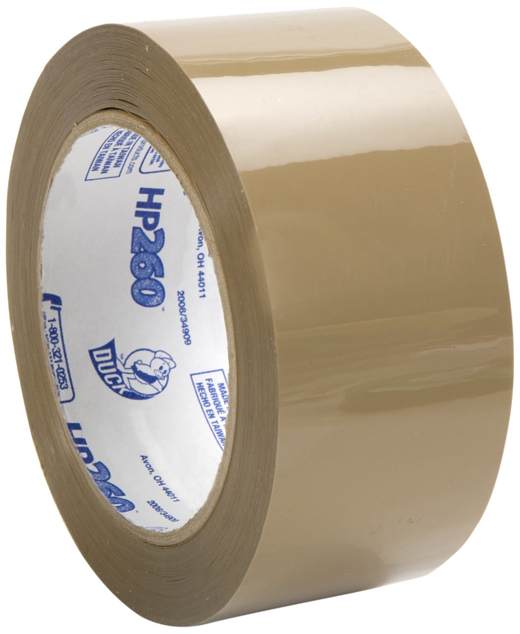 Duck Brand HP260 High Performance 3.1 Mil Packaging Tape, 1.88-Inch x 60-Yard, Tan, Case of 36 Rolls (299009)