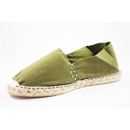 Alpargatas de Esparto Plana Made in Spain en Verde Talla 46: Amazon.es: Zapatos y complementos