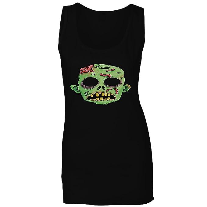 INNOGLEN Divertida Máscara De Bruja De Miedo Camiseta sin Mangas Mujer r575ft: Amazon.es: Ropa y accesorios