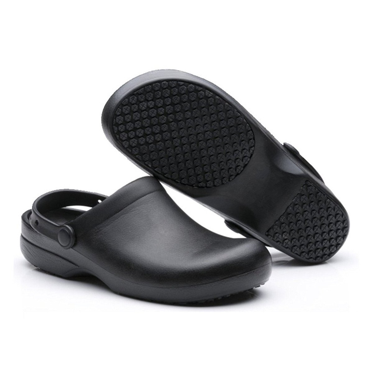 INiceslipper Unisex Anti-Slip Chef Clog Oil Water Resistant Work Shoes Flats Shoes
