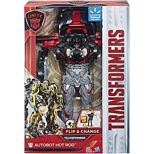 - Transformers: The Last Knight Autobots Unite 11-inch Flip & Change Autobot Hot Rod