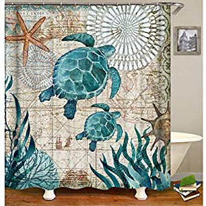 61QEDTgVCJL._SS300_ 200+ Beach Shower Curtains and Nautical Shower Curtains