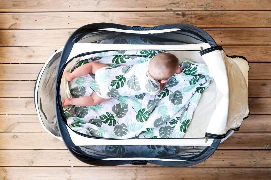 Deryan Bambin - Cama de viaje para bebé, color kaki: Amazon.es: Bebé