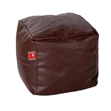 Comfy Bean Bags Bean Bag Footrest Medium Filled with Beans Filler (Brown)