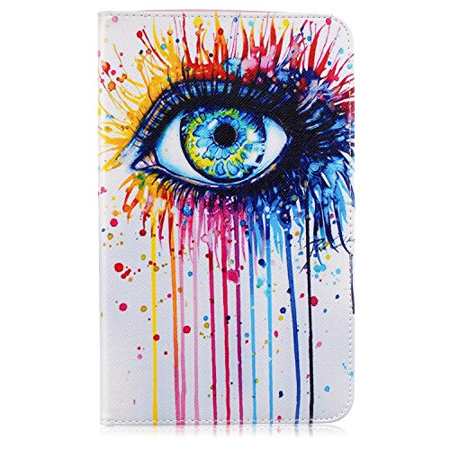 Tab E 8.0 case, Speedup Ultra Slim Lightweight Standing Flip PU Leather Wallet Folio Cover Case for Samsung Galaxy Tab E 8.0 inch SM-T377V/P/R 4G LTE - Verizon/Sprint/US Cellular (Eye (Halloween Colorado 2016)