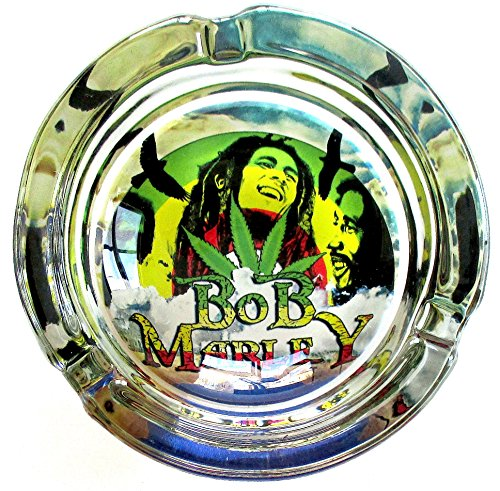 Bob-Marley-Happy-Marijuana-Weed-Round-Glass-Ashtray
