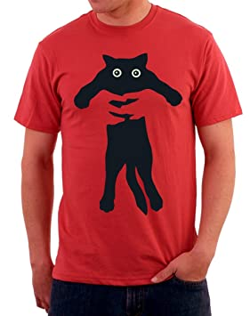 Tshirteria - Camiseta con dibujo de gato, gracioso, todas las tallas, para hombre y mujer, rojo, Medium: Amazon.es: Deportes y aire libre