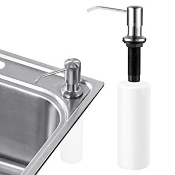 Perfect Sink Soap Dispenser, Cozzine Stainless Steel Kitchen Sink Countertop Soap  Dispenser Built In Hand Soap