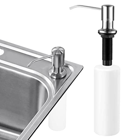 Captivating Sink Soap Dispenser, Cozzine Stainless Steel Kitchen Sink Countertop Soap  Dispenser Built In Hand Soap