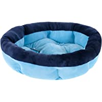 Cama Pet Para Cachorros e Gatos Soft Redonda Azul 50cm - Meu Pet