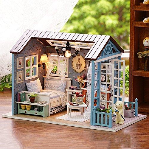 Unihobby Diy Dollhouse Kit Miniature Wooden Dollhouse Romantic