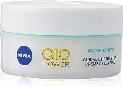 Oferta amazon: NIVEA Q10 Power Antiarrugas Cuidado de Día (1 x 50 ml), crema facial antiarrugas para piel mixta, crema hidratante con protector solar 15, crema antiedad