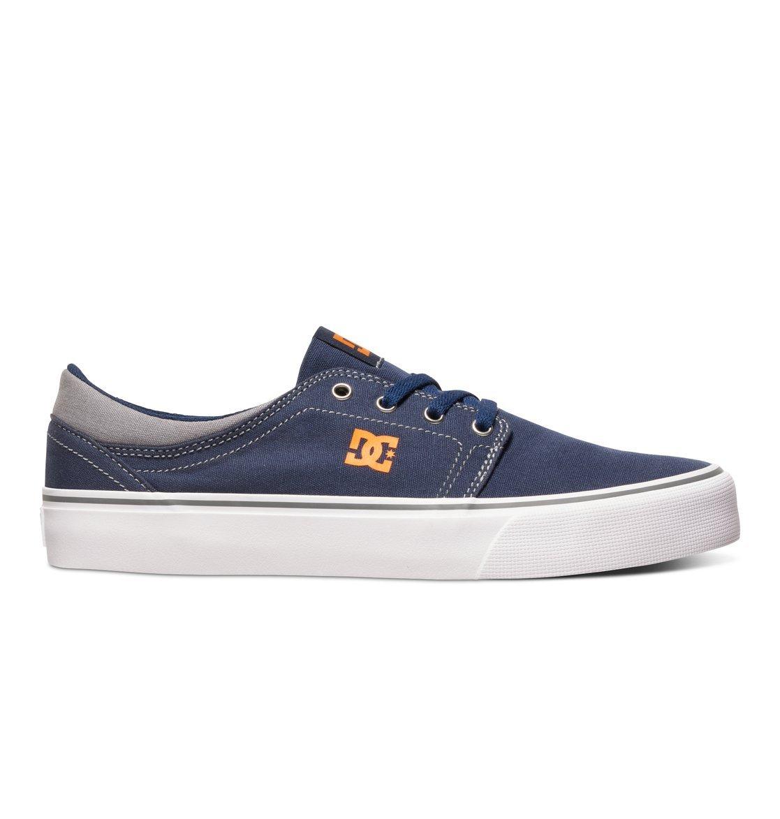 DC Men's Trase TX Unisex Skate Shoe B01D22GT84 6 B(M) US|Navy/Orange