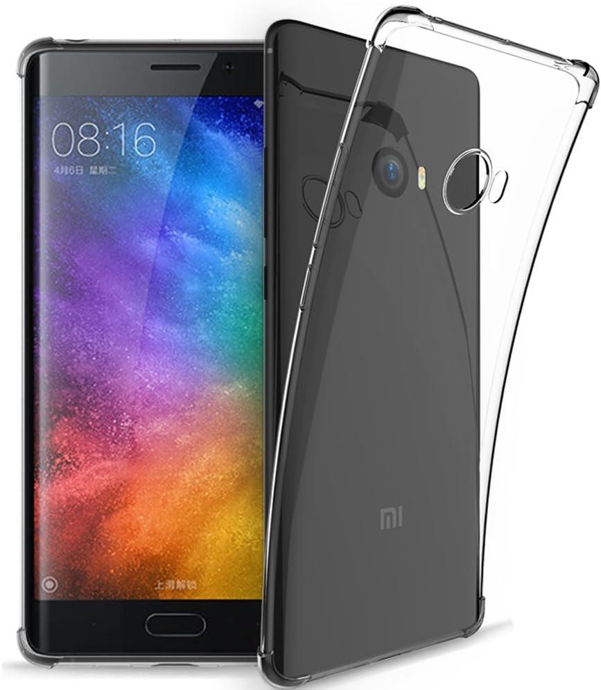 OFU® Funda de TPU para Xiaomi Mi Mix 2 Funda, de TPU Blando ...