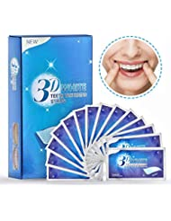 Herwiss Teeth Whitening Strips with Mint Flavor, Effective and Professional Teeth Whitening Kit Elastic Gels, 3D Dental Whitener for Teeth Deep, Surface Stains - 14 Treatments for Teeth Care