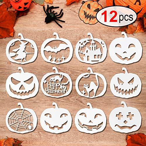 Halloween Pumpkin Cut Out Cookies - Konsait 12pcs Halloween Stencils Template DIY