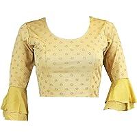 My Fair Lady Saree blouse voor dames, rekbaar, buikvrij, choli, Indisch, etnisch, traditioneel, Bollywood-danskleding…