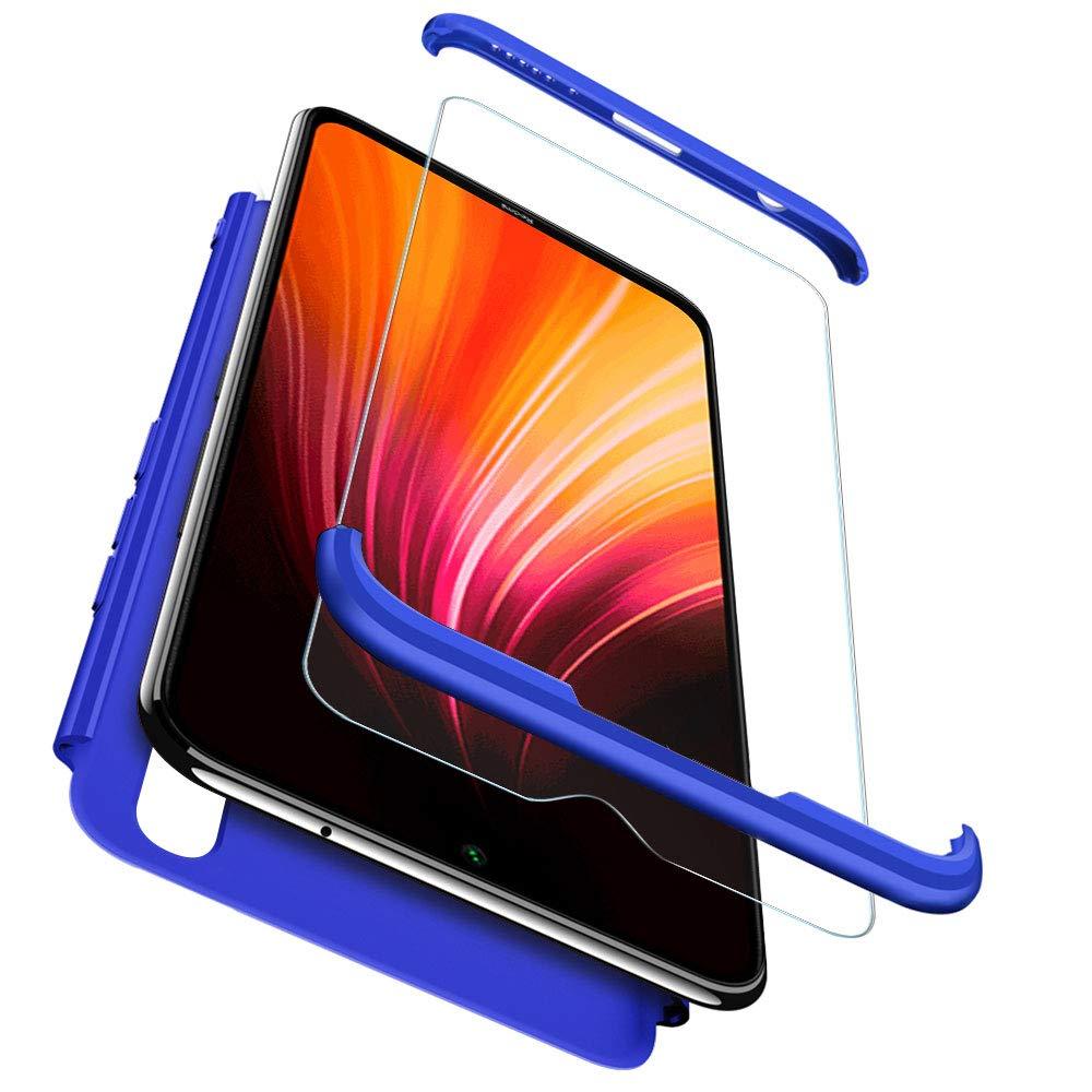 RosyHeart-EU Funda Compatible Xiaomi Redmi Note 8 Carcasa R/ígida PC Protective para Redmi Note 8 3 in 1 Anti-rasgu/ños Case Cover Caso Slim Fit 360 Grados 360 PC Hard Caja Caso Pro Azul