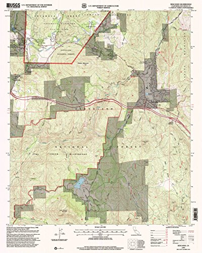 Descanso CA topo map, 1:24000 scale, 7.5 X 7.5 Minute, Historical, 1997, updated 2000, 26.9 x 21.5 IN - - Of Ca Map Madera Corte