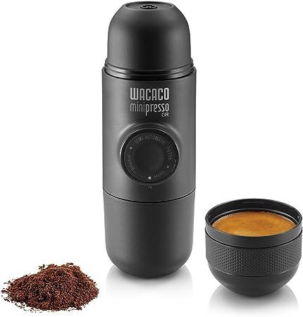 Wacaco Minipresso GR, Máquina de café espresso portátil, Compatible con café molido, Cafetera…