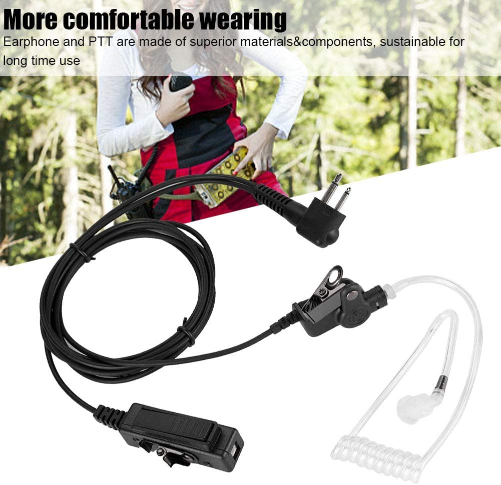 Air Duct Radio Earpiece,M Head Air Duct Ham Radio Earpiece Radio Earphone with PTT for Walkie Talkie,More comfortable wearing,Hands-free design,Wide use