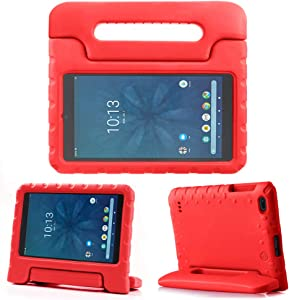 """REGOKI Case for Onn 8"""", Lightweight Handle Stand Kids Cover Compatible with Walmart Onn 8inch Android Tablet (Model ONA19TB002) 2019 Released (Red)"""