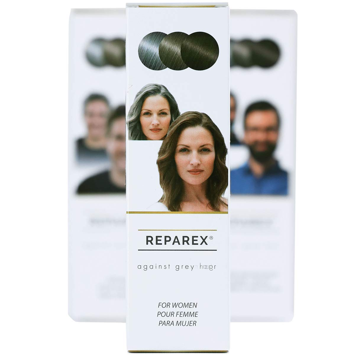 NEW IMPROVED Reparex For Women - No More Gray in the Mirror - Safe and Easy to Use Gray Hair Treatment - Gray Hair Solution - Not a Gray Hair Dye
