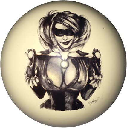 D/&L Billiards  Red Bikini Tombstone Pin-Up Girl Cue Ball Custom for Pool Players