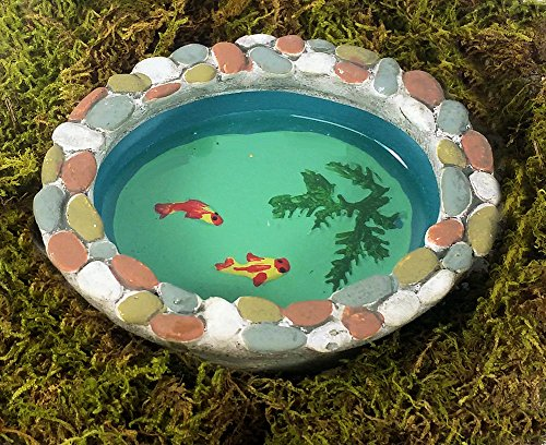 Miniature Fairy Garden Stone Fish Pond, 4
