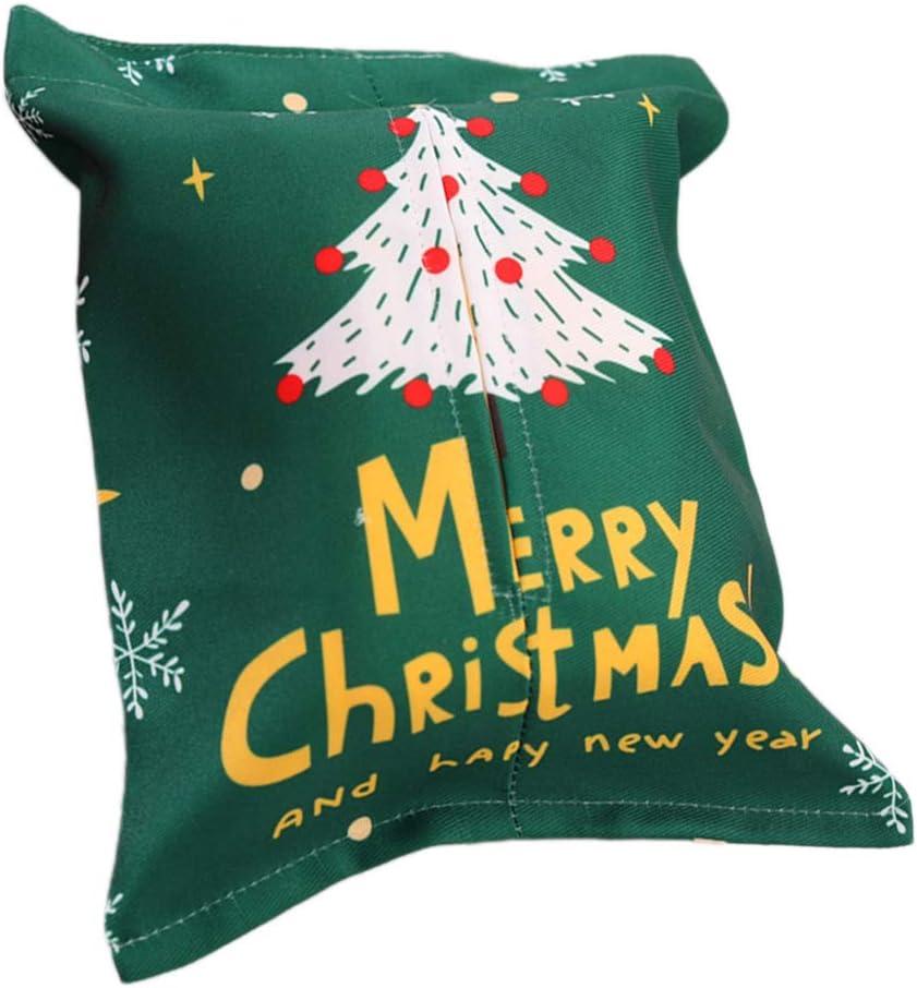 BESTOYARD Caja de Pañuelo de Navidad con Árbol de Navidad Decoración para Coche Mesa (árbol Verde): Amazon.es: Hogar