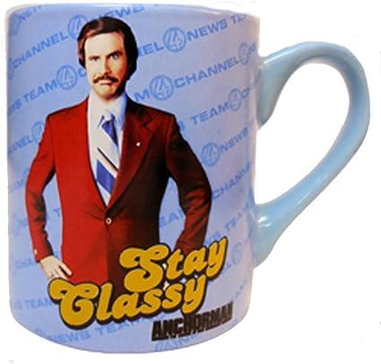 Permanezca con clase taza de café Ron Burgundy El reportero ...