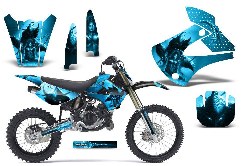 CreatorX Kawasaki kx85 kx100 2001 – 2013グラフィックススペルブルーアイス   B01E3EEXFG