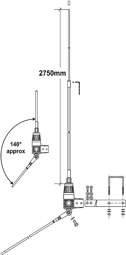 Sirio Antenas Boomerang A Antena CB Fijo, Aluminio