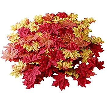 Vacker 400 Pieces Of 8 Different Colors Of The Maple Leaves In This Warm Beautiful Great Autumn,Covered Them With Your Own Garden Or Housetop
