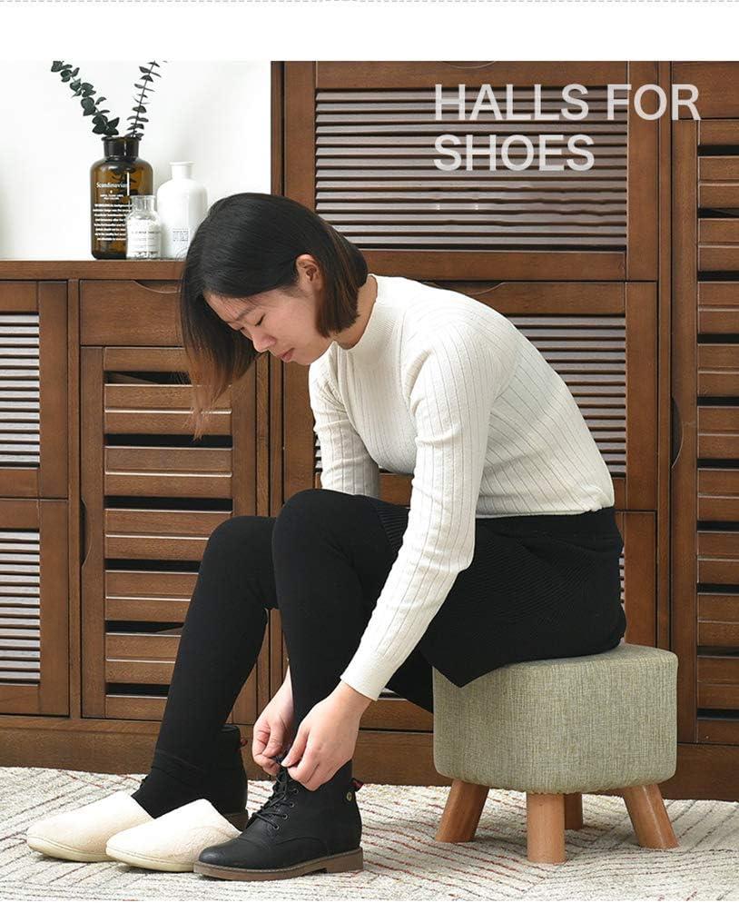 ZLL Hogar Silla Taburete Silla plegable-Taburetes pequeños Sillas creativas Taburetes de madera lavables y zapatos para el hogar Cambiar sofá Mesa de centro,A, B