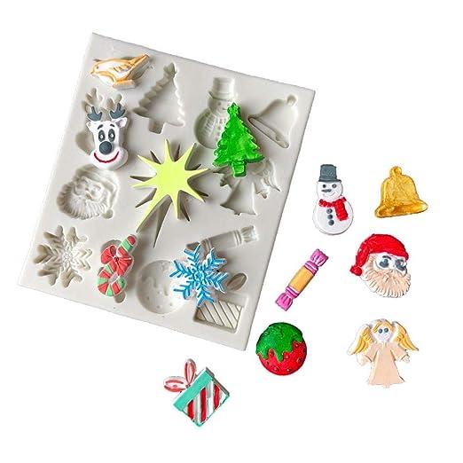 voloki Serie De Navidad Set Molde, Moldes De Silicona Flores ...