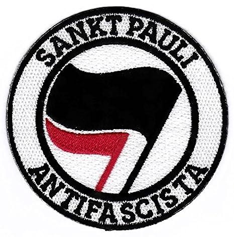 St Pauli Aufn/äher//B/ügelbild//Iron on Patch Gegen Faschismus