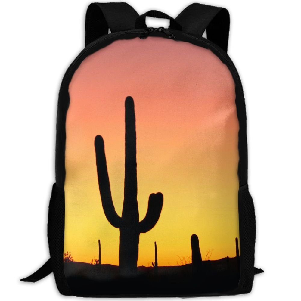 SZYYMM Cactus Oxford Cloth Casual Unique Backpack, Adjustable Shoulder Strap Storage Bag,Travel/Outdoor Sports/Camping/School For Women And Men cheap